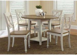 Genial 841 Al Fresco III Drop Leaf Table W/4 Chairs